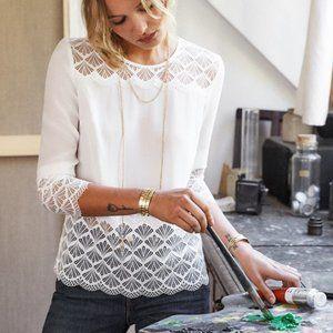 Sezane Aziliz Blouse Off-White NWT Size 38